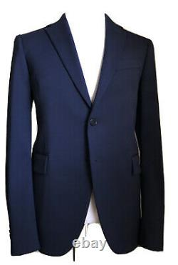 New $2375 Versace Mens Suit Slim Fit Blue 40R US (50R Eu) Italy