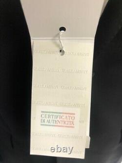 New Armani Collezioni G-Line Solid Black Slim-Fit Suit Size 48R/38R $1695.00