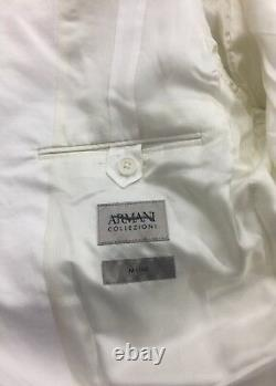 New Armani Collezioni M-Line White Cotton Stretch Slim Fit Suit 56/46US $1895.00