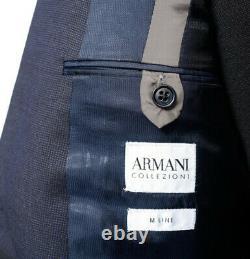 New Armani Collezioni M Navy Blue Nailhead Line 2Btn Slim Fit Suit 54 44 / 42 R
