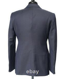 New Armani Collezioni M Navy Blue Nailhead Line 2Btn Slim Fit Suit 56 44 / 42 R
