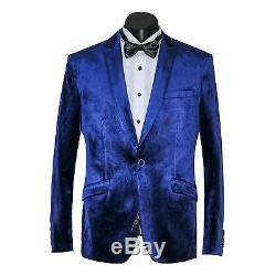 New Arrival Men's Slim Fit Velvet Suit Jacket & Trousers