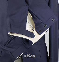 New. CANALI EXCLUSIVE 1934 Blue Super 150s Wool Blend Slim Fit Suit 50/40R $2995