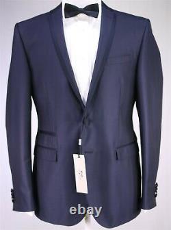 New! CORNELIANI Navy Blue Wool-Silk Slim Fit 2-Btn Tuxedo Formal Dinner Suit 40R