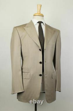 New D'AVENZA Brown Striped Wool 3 Roll 2 Button Slim Fit Suit Size 50/40 R $3995