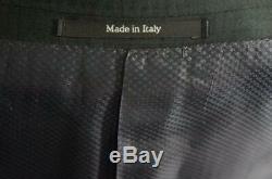 New Ermenegildo Zegna Satorial 2 Btn Wool Slim Fit Suit DarkGray Plaid 44R