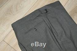 New Gorgeous Tom Ford Mens Grey Suit Peak Lapel Slim Fit Jacket Uk 42l /44l