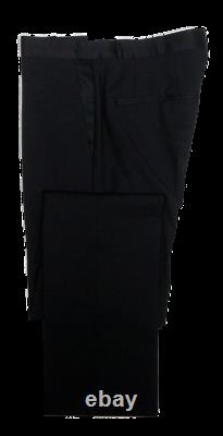 New Hugo Boss Adalo/Hibor 1 Btn Wool-Mohair Slim Fit Tuxedo Solid Black 34R
