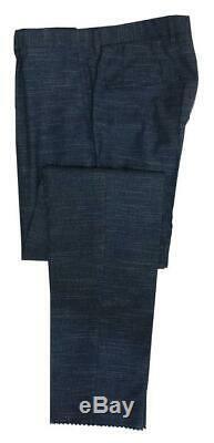 New Hugo Boss Nylen/Pery 2 Btn Wool-Linen Slim Fit Men`s Suit Solid BlueGray 40R