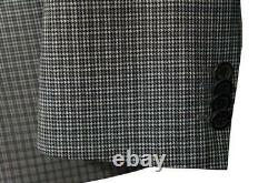 New Hugo Boss The Hives1/Sharp2 DB 100`S Wool Slim Fit Suit Gray Plaid 40R