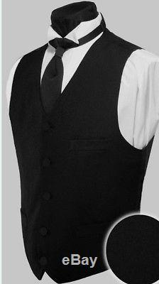 New Ike Behar Navy Sebastian Navy Blue Tropical Wool Tuxedo Slim Fit Suit Tux