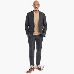 New J CREW Ludlow Slim Fit Suit Windowpane Bouclé Wool Blend 42R 33x30 or 31x30