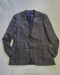 New Men's 42r J Crew Ludlow Slim Fit Suit Jacket Blazer In Plaid Stretch Flannel