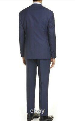 New Mens Giorgio Armani Trim Fit Check Wool Suit 50R (40 x W32) MSRP $2895