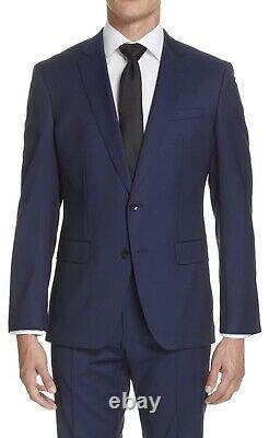 New Mens Hugo Boss Huge6/Genius5 Trim Fit Wool Blue Suit 43R X W36 MSRP $895
