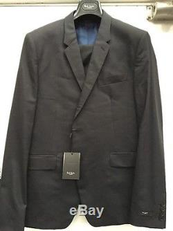 New Mens Paul Smith 42R / 52 Navy Suit Slim Fit 2 Button The Kensington