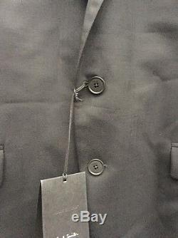 New Mens Paul Smith 44R / 54 Black Suit Slim Fit 2 Button The Kensington