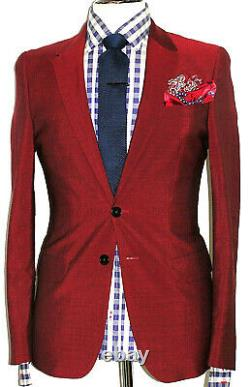 New Rare Mens Luxury Paul Smith Ps London Cropped Slim Fit Suit 38r W32 X L29