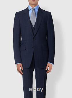 New TOM FORD Blue Suit Slim-Fit Buckley 2016/17 Wool 38 R US/48 IT 38R $5450