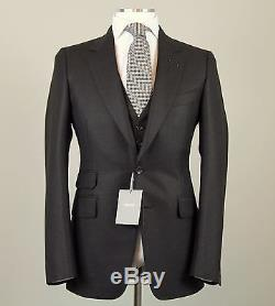New Tom Ford 3-Piece Brown Suit Size 38 (48 EU) Extra Slim Fit Base E Model NWT