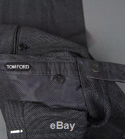 New Tom Ford Gray Wool Suit Size 38 (48 EU) Slim Fit New Base V Model NWT