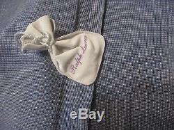 Nwt Ralph Lauren Purple Label Italy Made Suit 42l 35w Trim/slim Fit Linen Wool