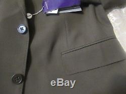 Nwt Ralph Lauren Purple Label Italy Made Suit 46l 39w Trim/slim Fit Crepe Wool