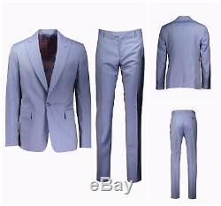Nwt Vivienne Westwood Blue Slim Fit James 1 Button Wool Suit. Uk 40r Eur 50r