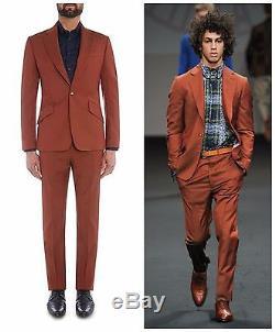 Nwt Vivienne Westwood Man Rust Slim Fit James One Button Suit. Uk 36r, Eur 46r
