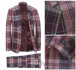 Nwt Vivienne Westwood Red Slim Fit One Button Morning Glory Tartan Suit. Uk 38r