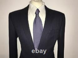 OZWALD BOATENG Couture -Mens Tailored Fit NAVY BLUE WOOL SUIT 38 Reg W32 L32