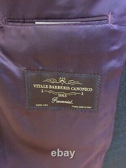 Olvier Wicks 42R Slim Fit Super 110s Vitale Barberis Suit 2 Pairs Trousers
