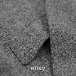 Orazio Luciano Slim-Fit Gray Check Soft Brushed Flannel Wool Suit 40R (Eu 50)