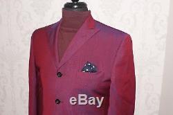 Ozwald Boateng Suit Cherry Mod Pinstripe Bespoke Savile Row Slim Fit Uk 38r