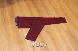 Ozwald Boateng Suit Cherry Tonic Pinstripe Bespoke Savile Row Slim Fit Uk 40r