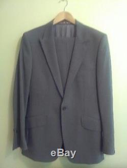 PAUL SMITH LONDON Slim fit grey suit 60s London mod lining very rare 38