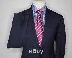 PAUL SMITH LONDON THE BYARD LUXURY SUIT MICRO CHECK NAVY MODERN SLIM FIT 42x36