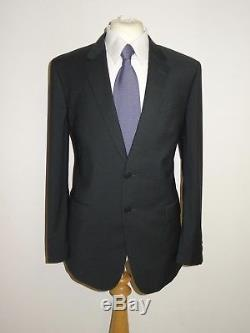 PAUL SMITH Mens Slim Fit DARK GREY CHECKED WOOL SUIT 42 Reg W36 L29 LOVELY