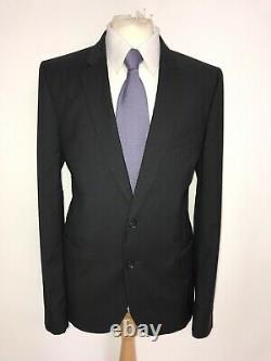 PAUL SMITH Mens Slim Fit Plain BLACK WOOL & MOHAIR SUIT 44 Reg W38 L33