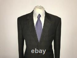 PAUL SMITH -Mens Tailored Fit BROWN Checked WOOL SUIT 44 Reg W38 L34 -LOVELY
