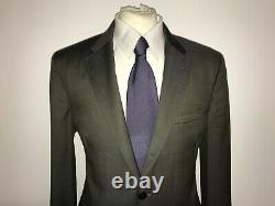 PAUL SMITH Mens Tailored Fit GREEN GREY WOOL SUIT 42 Reg W36 L32 -GORGEOUS