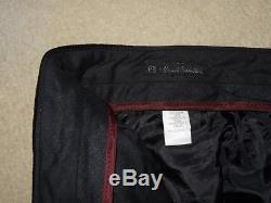 PAUL SMITH Mens Vintage Slim Fitting BLACK VELVET SUIT 40 Reg W32 L30