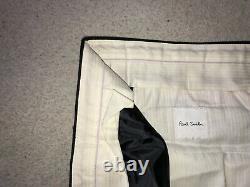PAUL SMITH Soho Fit Mens Slim Fit Plain BLACK WOOL SUIT 44 Reg W36 L30