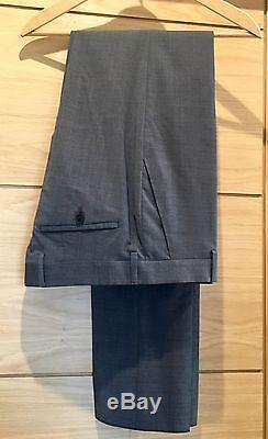 PAUL SMITH Suit Grey WOOL SOHO Made In ITALY Slim Fit Size 40 BNWT