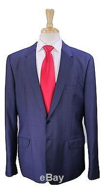 PAUL SMITH Very Recent Blue/Navy Birdseye 2-Btn Slim Fit Wool Suit 46R