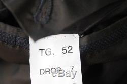 PERFECTO Sartoria Formosa Navy Blue Nailhead Suit 52EU Fits Slim 40R 2 Vent Fla