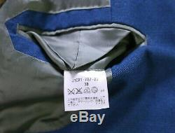PHINEAS COLE by Paul Stuart Emerald Blue 3-Pc Slim Fit Peak Lapel Suit 36S