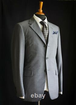 PRADA Slim Fit Suit, Grey Wool, Jacket Size 36L (EU 46L), Trousers W30 L33