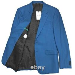 Paul Smith Byard Tailored-Fit Half-Canvas Blue Wool 2-Button Suit 38R $1500