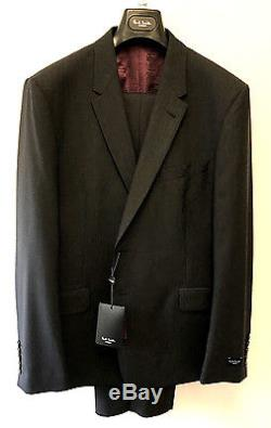 Paul Smith CHARCOAL GREY Suit LONDON FLORAL Slim Fit UK44R Chest 44 Waist 37